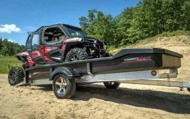 Loading a UTV into a CargoMax trailer.