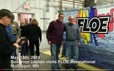 Minnesota Governor Mark Dayton visits FLOE International.