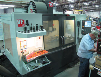 HAAS Vertical milling machine.