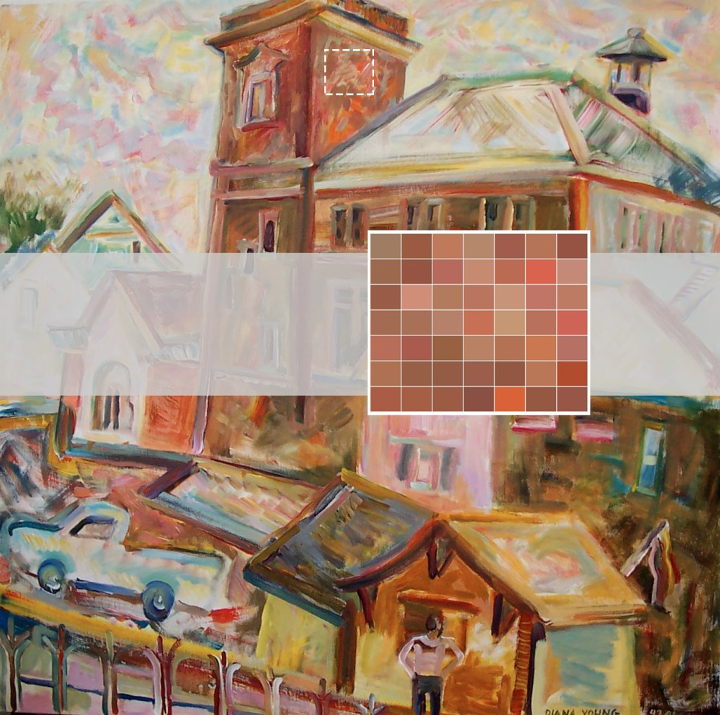 Three by three inches of Customs House, Eastport Shows Diana Young Is A Master Of Painting
