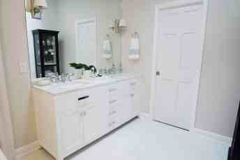 Bathroom counter and floor