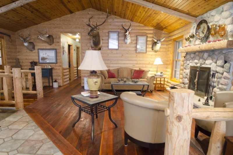 log cabin hardwood floors