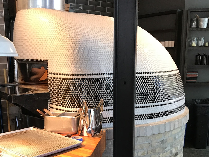 mosaic tile oven