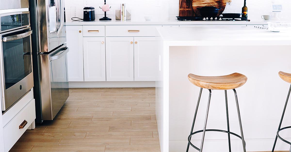 luxury vinyl tile in your kitchen