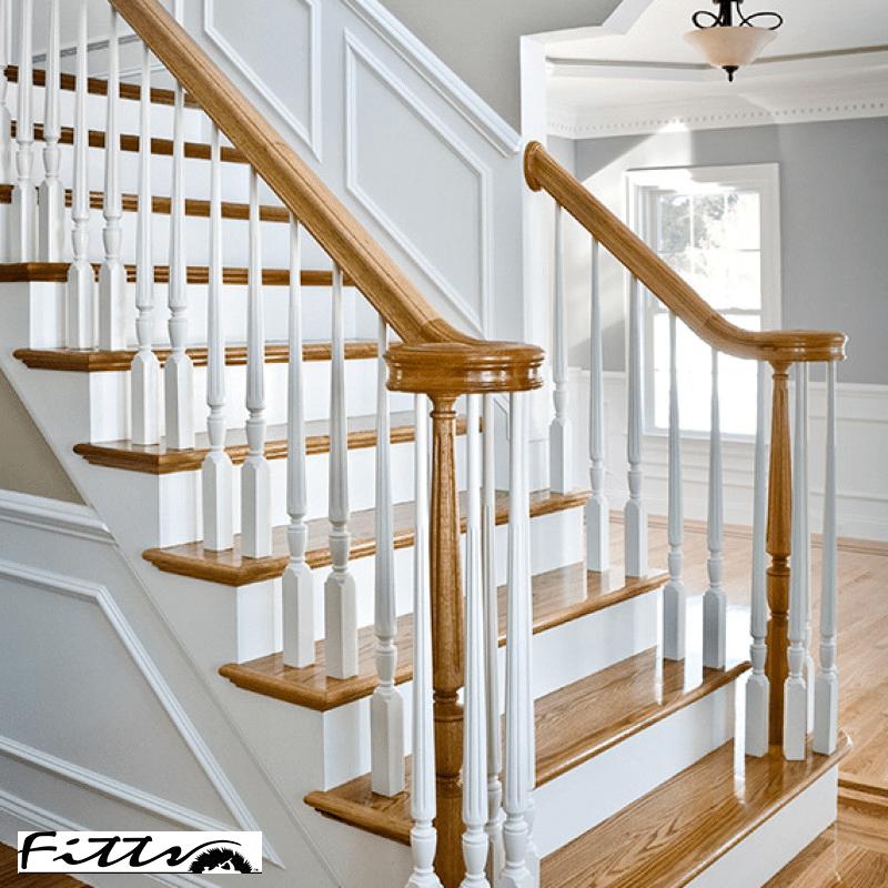 Hardwood Stair Treads Risers Bullnose Wood Steps Flooring Org | Wood Treads And Risers | Step | Coretec Plus | Light Oak | Remodel | Custom