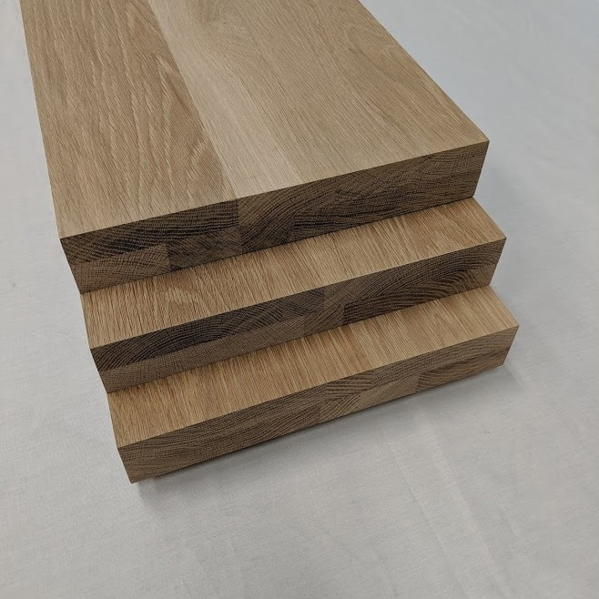 2 Inch Thick White Oak Stair Treads Extra Thick Solid Floating Steps | Solid Maple Stair Treads | Soft Maple | Stair Parts | Risers | Red Oak Stair | Hardwood Floors