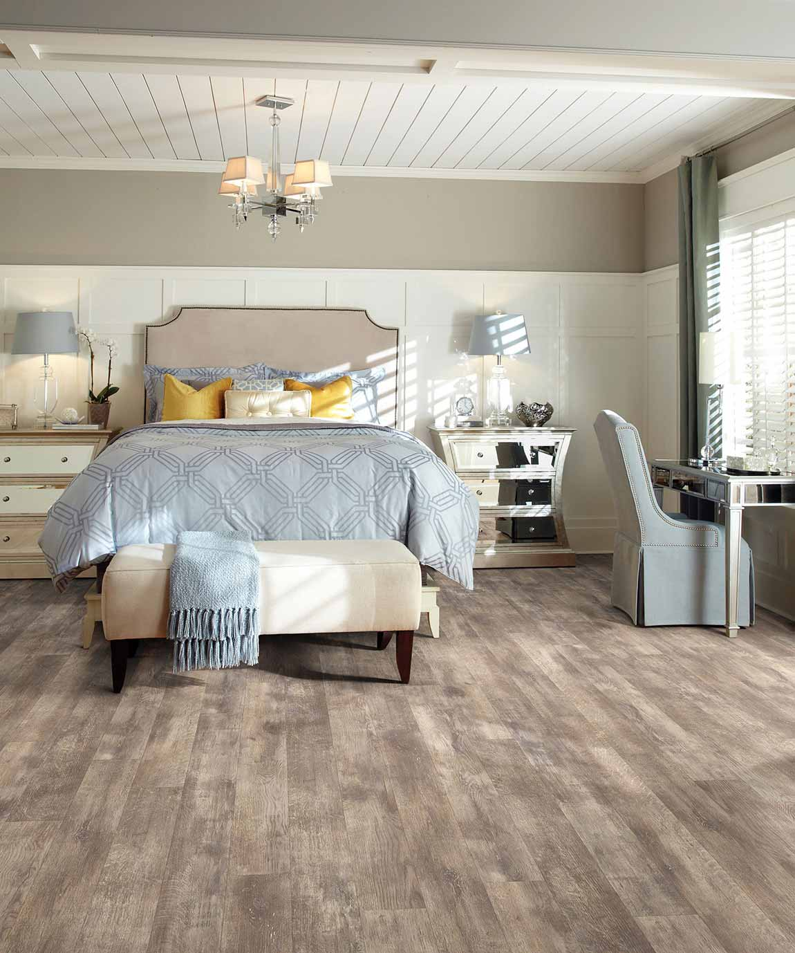 tile coastal beach house bedroom