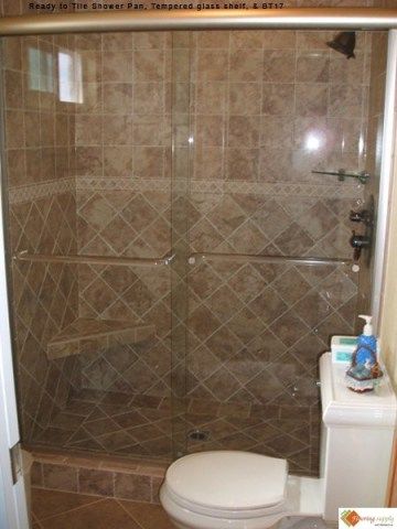 Ready to tile Shower pans, PreFormed Shower Pan, shower pan, tileredi, shower base, custom shower pan