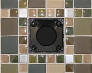 Ebbe Square shower drain cover, Ebbe shower drain, Square, colors shower drain cover, Shower construction, residential shower drain