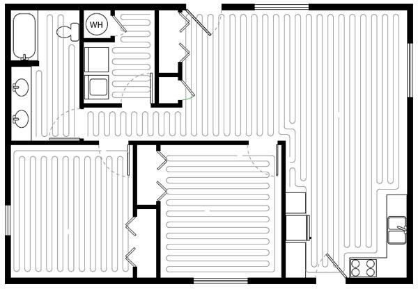 SunTouch SlabHeat, electric floor heating, in floor heating, radiant heat flooring, radiant floor heating, under floor heating, electrical floor heating, floor heating, sun touch heating system, Heated floor mat, radiant floor mat, tile heating, heated floors