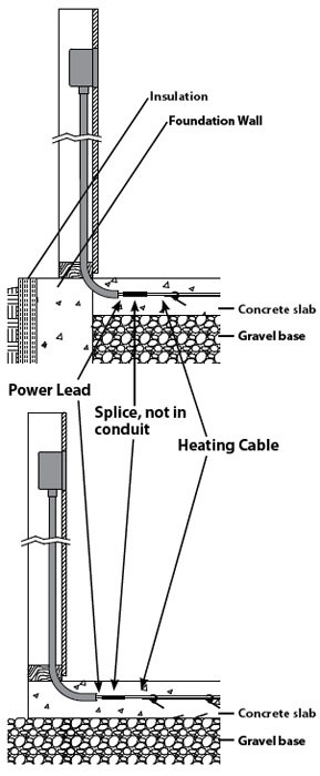 blog   slabheat cable specification and installation