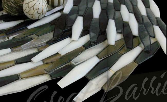 Metal Tile, Mosaic metal. Round metal tile, Stainless Steel, Copper, Mosaics, Metal Borders