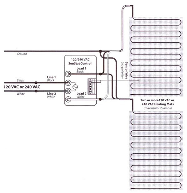 Wiring Diagram For Underfloor Heating Mats : Volt radiant heating wire diagram wiring
