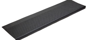 Outdoor Recycled Rubber Stair Tread 633   Exterior Rubber Stair Treads   Self Adhesive   Commercial   Standard Length 48   Carpet Stair   Non Slip
