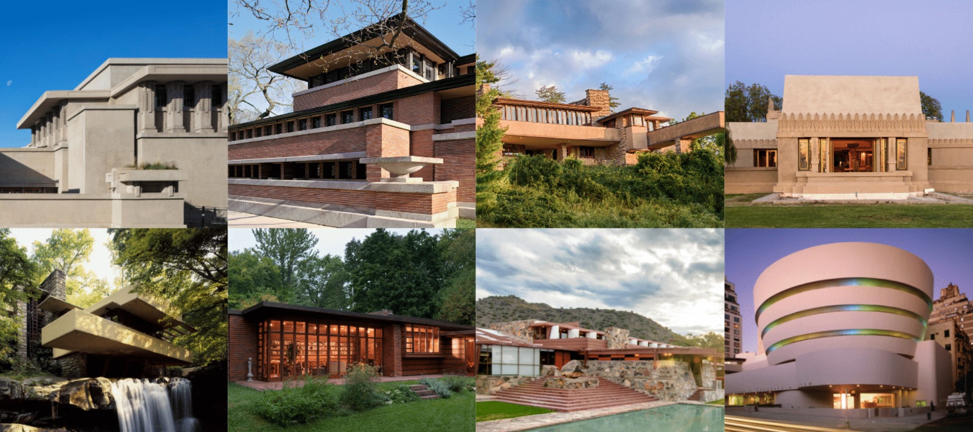 Eight Buildings By Frank Lloyd Wright Inscribed On The