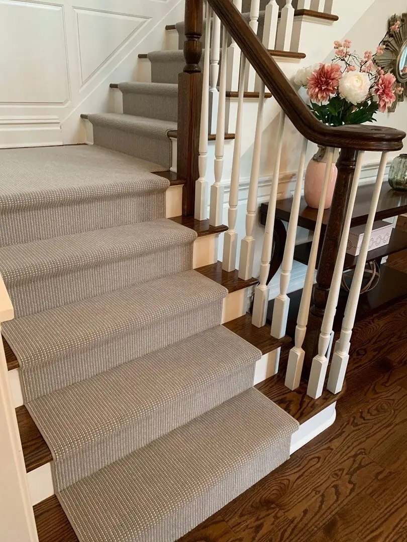 Carpet Chatham Nj Stair Runners Custom Rugs Floors Direct | Carpeted Stairs To Hardwood | Diy | Hardwood Flooring | Middle | Old House | Staircase