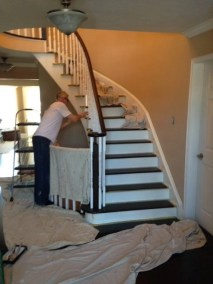 Working on a new custom staircase by Floors Direct North