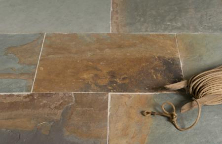 It is a fine-grained stone with no evidence of crystals. Rustic Multicolour Slate Tiles Floors Of Stone