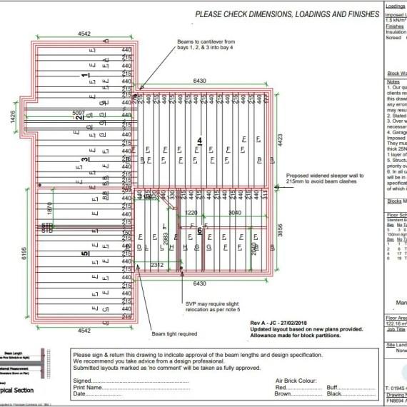 Beam and block floor plan