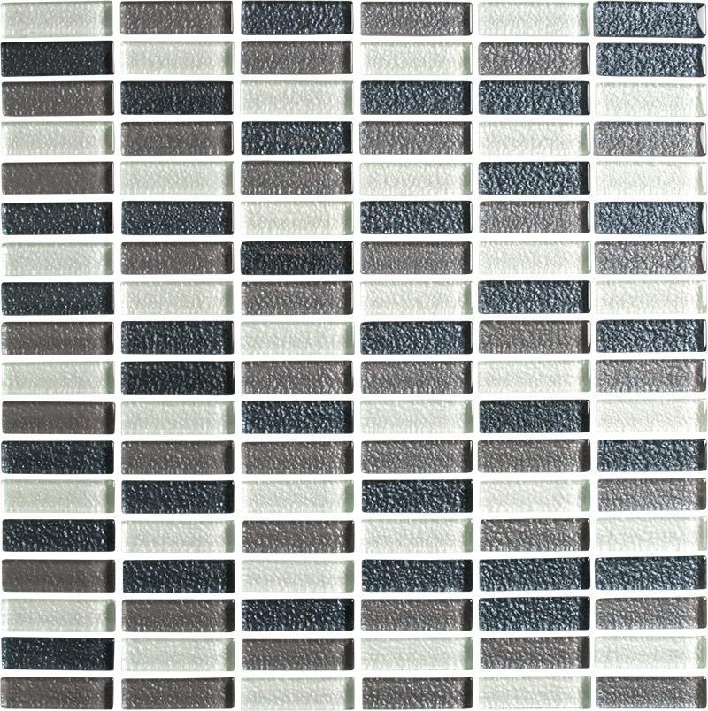 lava black charcoal heather white glass mosaic tiles