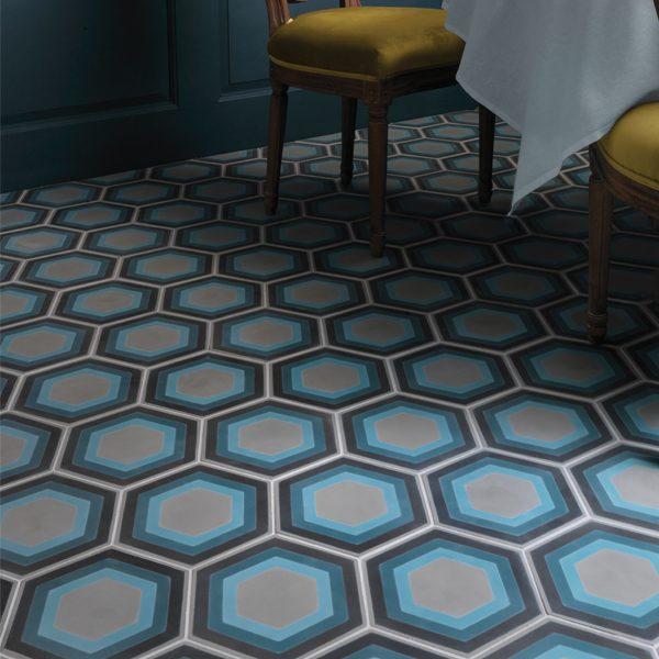 patisserie hexagon encaustic tile