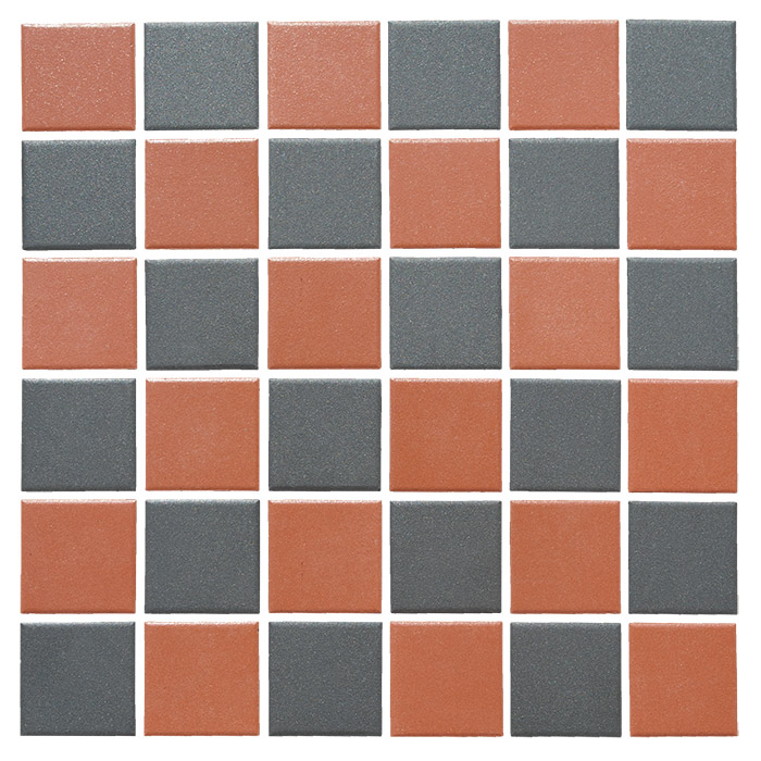 black and red victorian vitrified porcelain mosaic tiles