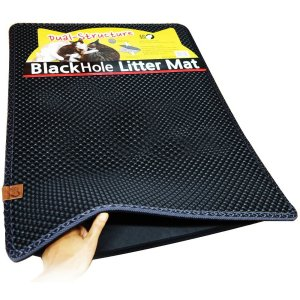 "Moonshuttle Blackhole Cat Litter Mat - Super Size Rectangular 30"" X 23"""