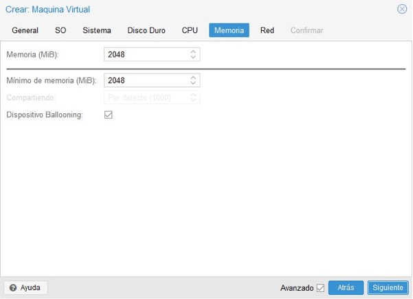 Crear máquina virtual Proxmox 7