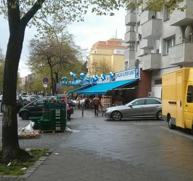 Weiß und Blau stehen hier nicht für Bayern, sondern für das Corporate Branding.