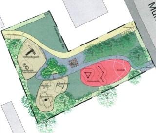 Entwurf für den neuen Spielplatz