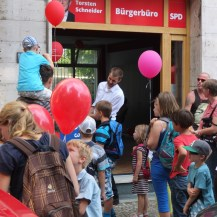Bei der SPD gab es rote Ballons