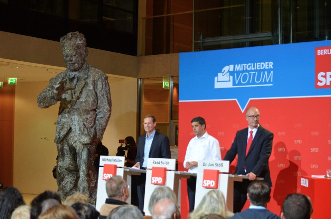 Willy Brandt, Michael Müller, Raed Saleh, Jan Stöß (© SPD Berlin)