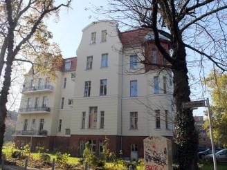 Einsames Projekt jenseits der Mühlenstraße: Parksanatorium.