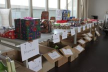 Hier wurden Geschenke sortiert.