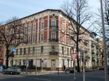 Die Kreuzung Florastraße...