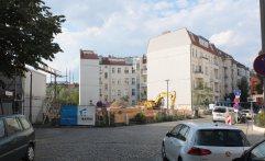 In der Gaillardstraße wird die Baugrube für das FriedrichsCarré ausgehoben.