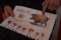 Zeichner Christian Badel mit einer neuen Idee: Glücksschwein Locke