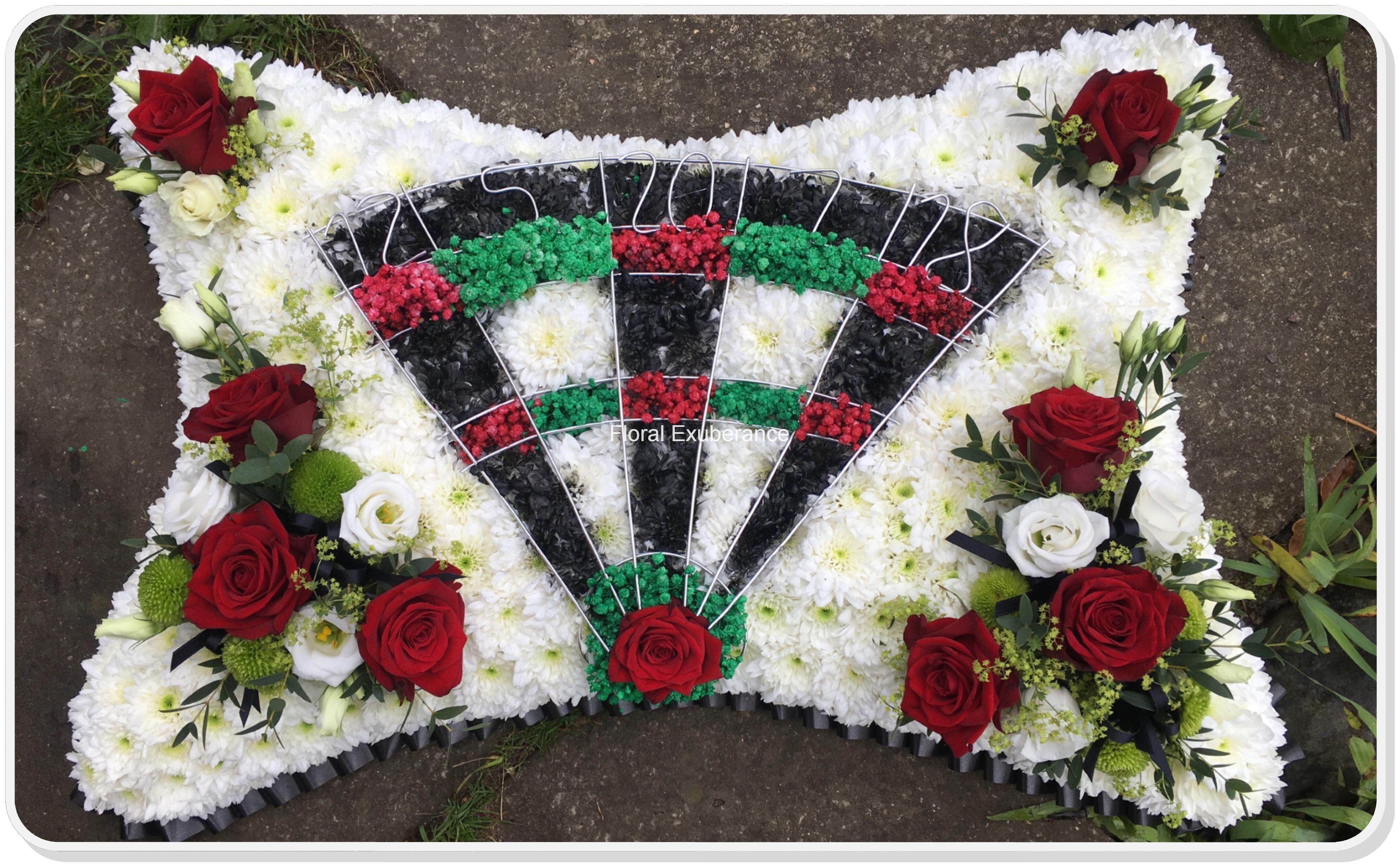 Dartboard funeral flower tribute floral exuberance dartboard funeral flower tribute izmirmasajfo