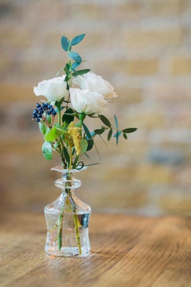 Mini glass bud vases