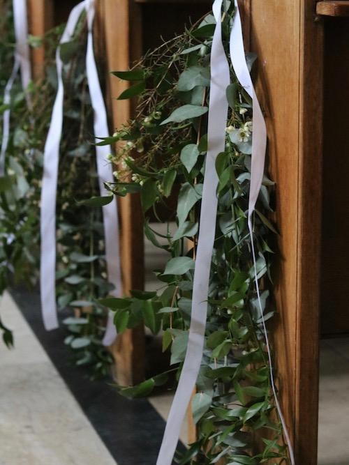 Foliage pew ends