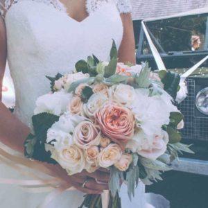 Floral Lounge Ribbon wedding bouquet