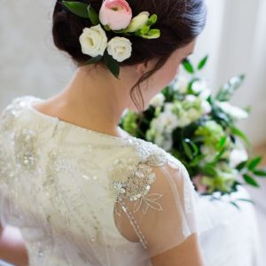 Rise Hall Wedding Sylvester Wedding hair flowers