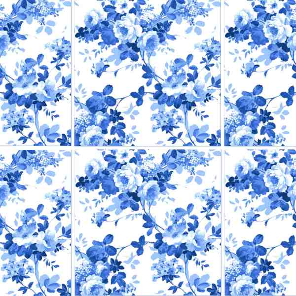 Blue roses ceramic wall tiles pattern example