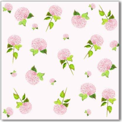 Ditsy Pink Hydrangea Pattern Ceramic Wall Tile