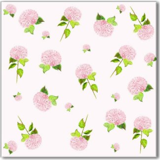 Ditsy Pink Hydrangea Pattern Ceramic Wall Tile