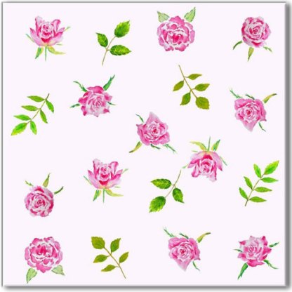 Pink Roses on a pale pink background, floral pattern ceramic wall tile