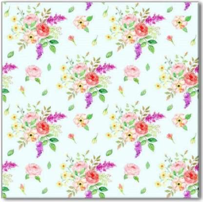 Flower bouquet pattern ceramic wall tile
