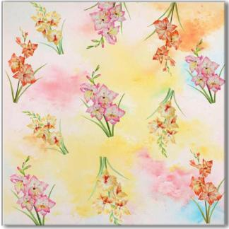 Pink Phlox Floral Pattern Ceramic Wall Tile