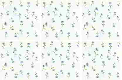 Ditsy Daisies Floral Ceramic Wall Tile Pattern Example