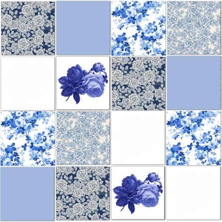 Blue Splashback Tiles Pattern Example